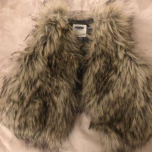 Old Navy Brown Faux Fur Vest